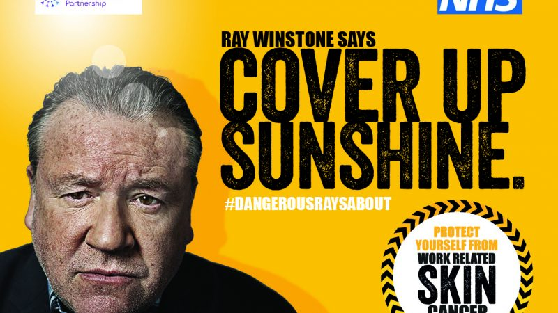 Actor Ray Winston says Cover up sunshine